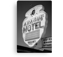 Route 66 - Apache Motel Canvas Print