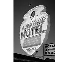Route 66 - Apache Motel Photographic Print
