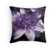 Flower in lilac tones Throw Pillow