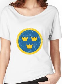 Military Roundels - Flygvapnet Swedish Air Force Women's Relaxed Fit T-Shirt