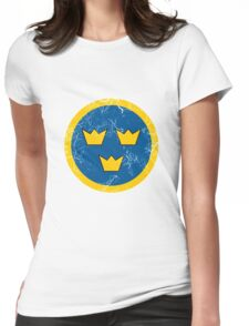 Military Roundels - Flygvapnet Swedish Air Force Womens Fitted T-Shirt