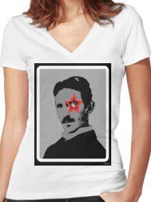 Tesla Rocks! Women's Fitted V-Neck T-Shirt