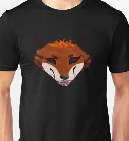 Burning Bush Fox Unisex T-Shirt