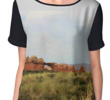 Arches and Skies Chiffon Top