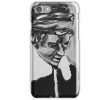 Black & White Oil Painting iPhone Case/Skin