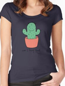 Can I hug you? Women's Fitted Scoop T-Shirt