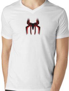 3d spiderman logo Mens V-Neck T-Shirt