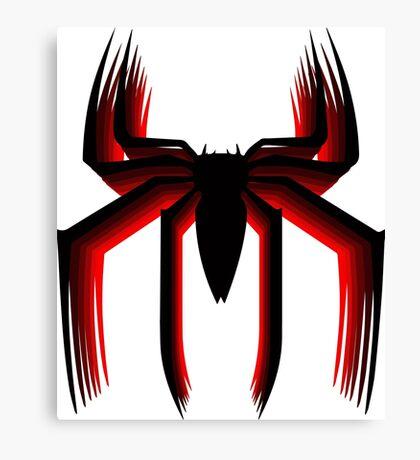 3d spiderman logo Canvas Print