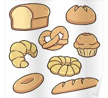 All Types of Bread Pattern Poster