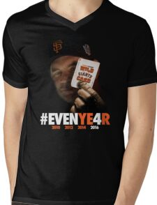 Giants Wild Card: #EVENYE4R Mens V-Neck T-Shirt