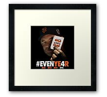 Giants Wild Card: #EVENYE4R Framed Print