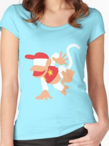 Diddy Kong Vector Women's Fitted Scoop T-Shirt