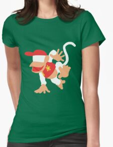 Diddy Kong Vector Womens Fitted T-Shirt
