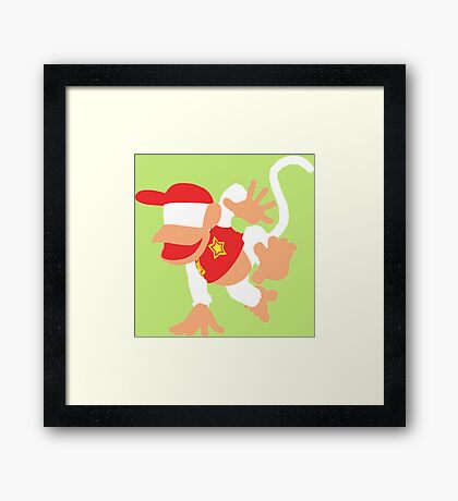 Diddy Kong Vector Framed Print