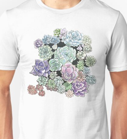 Succulent Sketches Unisex T-Shirt
