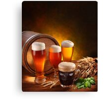 Beer and Draft Beer Canvas Print