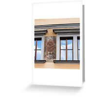 Clouds reflected Greeting Card