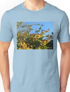 Cloudless Blue Sky and Autumn Leaves Unisex T-Shirt