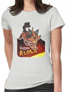 Greetings from Alola ft. Torracat - Pokémon Sun and Moon Womens Fitted T-Shirt