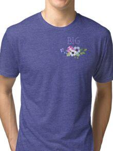 Big/Little/Gbig Purple Floral Tri-blend T-Shirt