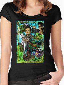 Teenage Mutant Ninja Turtles/Ghostbusters Women's Fitted Scoop T-Shirt