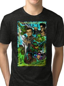 Teenage Mutant Ninja Turtles/Ghostbusters Tri-blend T-Shirt