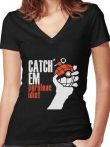 Catch em Women's Fitted V-Neck T-Shirt
