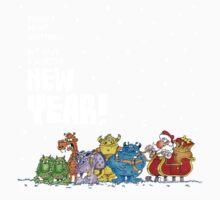Descriptive Christmas Sleigh! One Piece - Short Sleeve