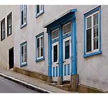 A Steep Street in Old Quebec City Photographic Print