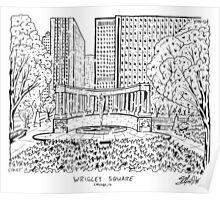 Wrigley Square Maze Poster