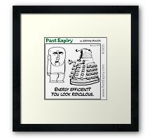 Cartoon : Daleks Gone Green Framed Print