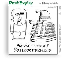 Cartoon : Daleks Gone Green Metal Print