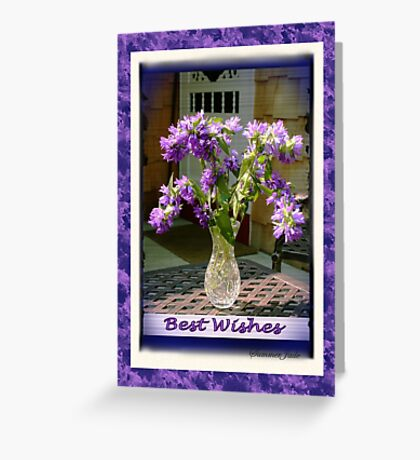 Best Wishes ~ Cottage Bouquet Greeting Card