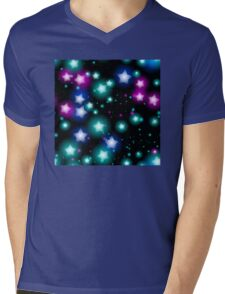 Neon Stars Mens V-Neck T-Shirt