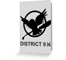 district 9 3/4 Greeting Card