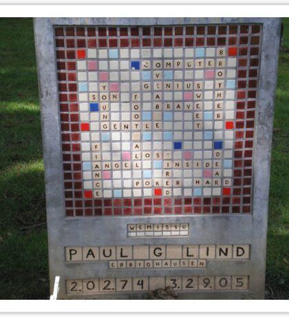 Crossword Headstone Sticker