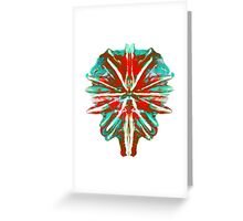 Earth in lava & Ice Greeting Card