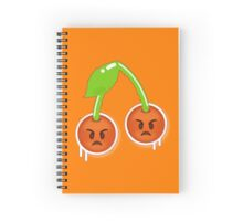 Angry Cherries  Spiral Notebook