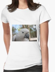Sulphur Crested Cockatoo Womens Fitted T-Shirt