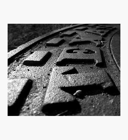 Cast Iron Raised Letters - Texas Photographic Print