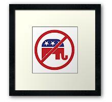 No Republicans Vote Democrat Framed Print
