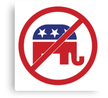 No Republicans Vote Democrat Canvas Print
