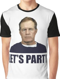 Lets Party - Coach Belichick Graphic T-Shirt