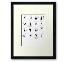 Black cats collection Framed Print