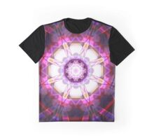 Crystal Refraction - Pink Graphic T-Shirt