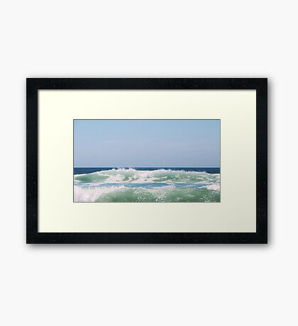 Seafoam Ocean Waves Crashing Framed Print