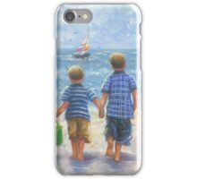 TWO LITTLE BEACH BOYS WALKING iPhone Case/Skin