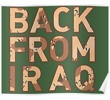 Back From Iraq - Iraq Vets Poster