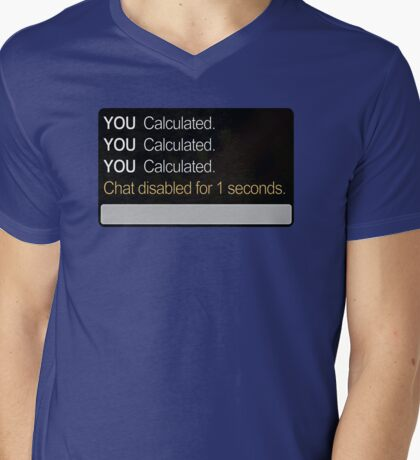 Calculated Mens V-Neck T-Shirt