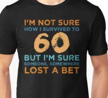 60th Birthday Survival Unisex T-Shirt